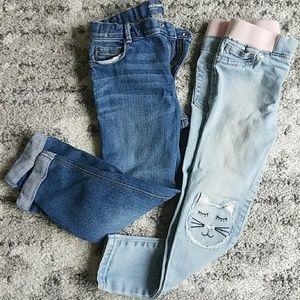 Girls denim jeans bundle old navy 5t